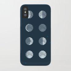 8bit Moon Phases iPhone X Slim Case