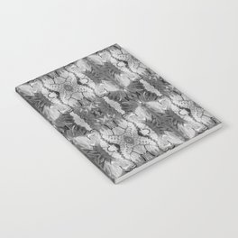 B&W Open Your Eyes Patterned Image Notebook