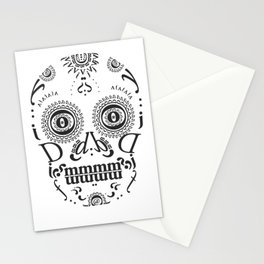 Typographic Sugar Skull Stationery Cards