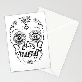 Typographic Sugar Skull Stationery Cards