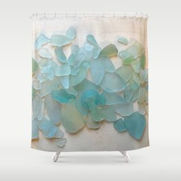 Ocean Hue Sea Glass Duschvorhang