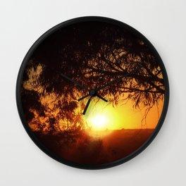 Sunset Silhouettes | Beautiful Nature Wall Clock