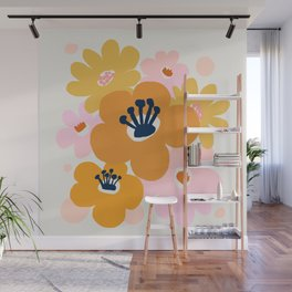 Abstraction_Flowers_Blossom_001 Wall Mural