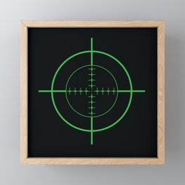 Gun Sight Crosshairs Framed Mini Art Print