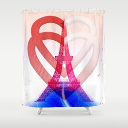 PARIS LOVE Shower Curtain