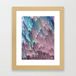 Iridescent Shadows Glitches Framed Art Print