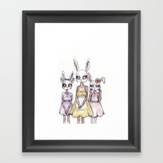 The Three Orphans Framed Art Print