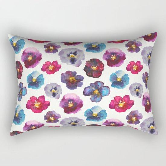 Watercolor violets Rectangular Pillow