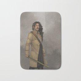 Man with a golden sword Bath Mat
