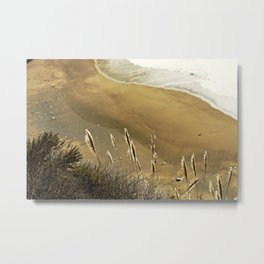 Abstract Lines In The Sand Metal Print