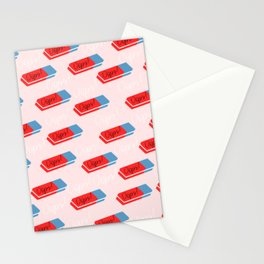 Oops - cute eraser pattern Stationery Cards