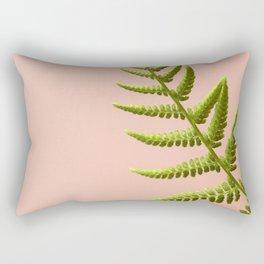 Fern Study On Pink #2 Rectangular Pillow