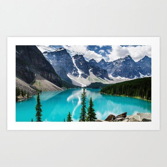 Lake Moraine Banff by hunterofwoods