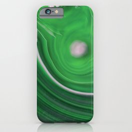 Green Marble Agate 0410 iPhone Case