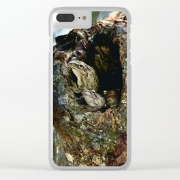Frog Family in a Tree Clear iPhone Case