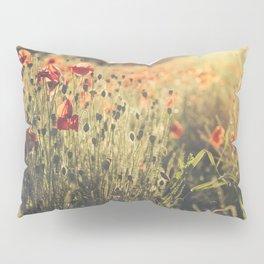 Wildflower Poppy Fields. Pillow Sham