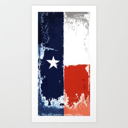 Texas flag Art Print