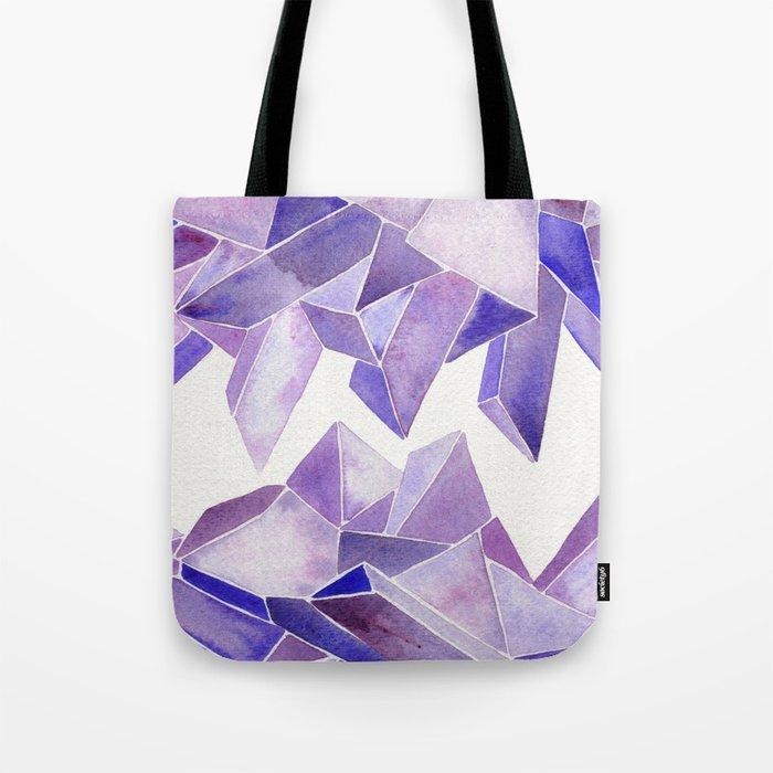 Amethyst Watercolor Tote Bag