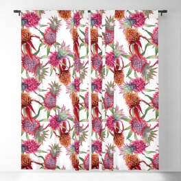 Pineapples in Bloom Blackout Curtain