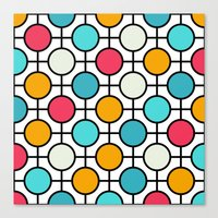 polka dots Canvas Prints featuring Polka Dots by Dizzy Moments