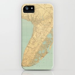 Vintage Map of Cape May NJ (1888) iPhone Case