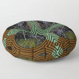 Nature Portals Pattern Floor Pillow
