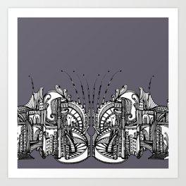 Enchanted City - Purple Art Print