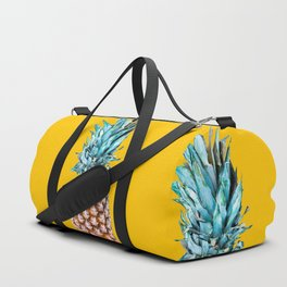 Pineapple Ananas On A Yellow Mellow Background #decor #society6 #buyart Duffle Bag