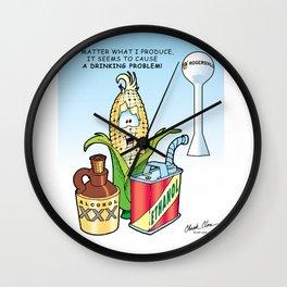 Ethanol & Alchohol Drinking Problem Wall Clock