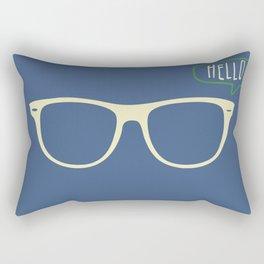 Hello Eyeglass #2 Rectangular Pillow