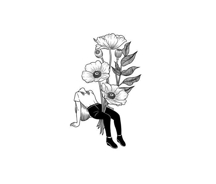 Let me bloom Metal Travel Mug
