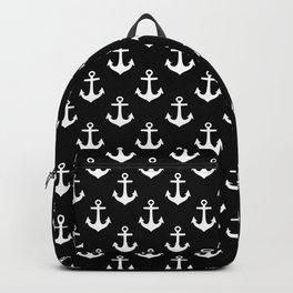 Anchors (White & Black Pattern) Backpack