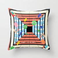 tennis Throw Pillows featuring Tennis by Kamolsky