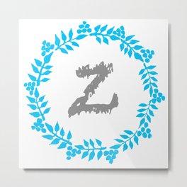 Z White Metal Print