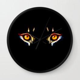 Lion Eyes Wall Clock