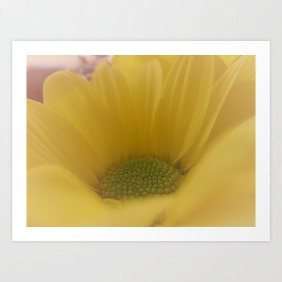 Soft  Vintage Yellow Art Print