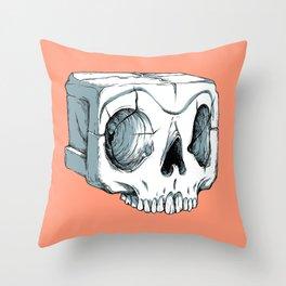 Sugar Cube Skull Throw Pillow