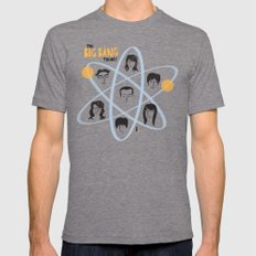The Big Bang Theory Tri-Grey MEDIUM Mens Fitted Tee