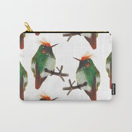Rufous-crested Coquette Carry-All Pouch