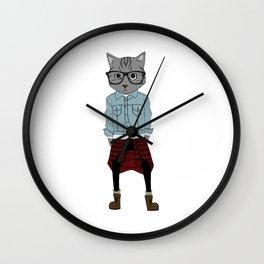Cat Boy II Wall Clock