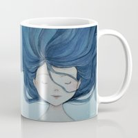 little mermaid Mugs featuring Little Mermaid by Grazia Vincoletto