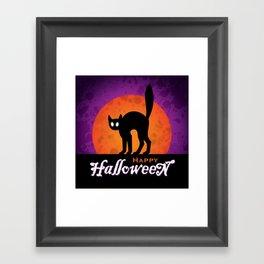 HALLOWEEN | CAT Framed Art Print
