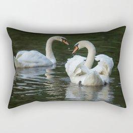 SWANS IN LOVE Rectangular Pillow