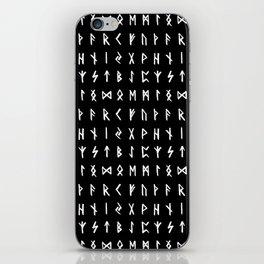 Nordic Runes // Black iPhone Skin