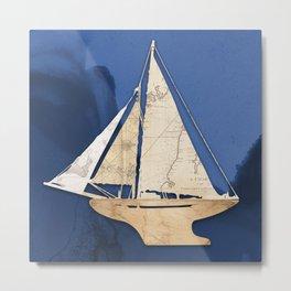 Cutter Sailboat  Metal Print