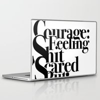 courage Laptop & iPad Skins featuring Courage by blugge
