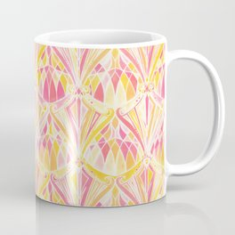 Art Deco Pattern in Pink and Orange Coffee Mug