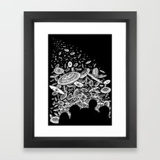 The Day the Saucers Came Framed Art Print