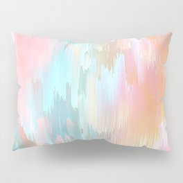 Candy Rainbow Glitch Fall #abstractart Pillow Sham