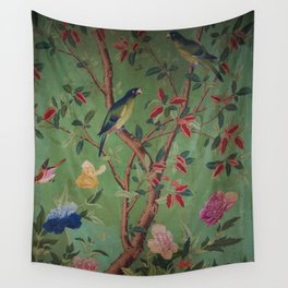 Green Dream Chinoiserie Wall Tapestry